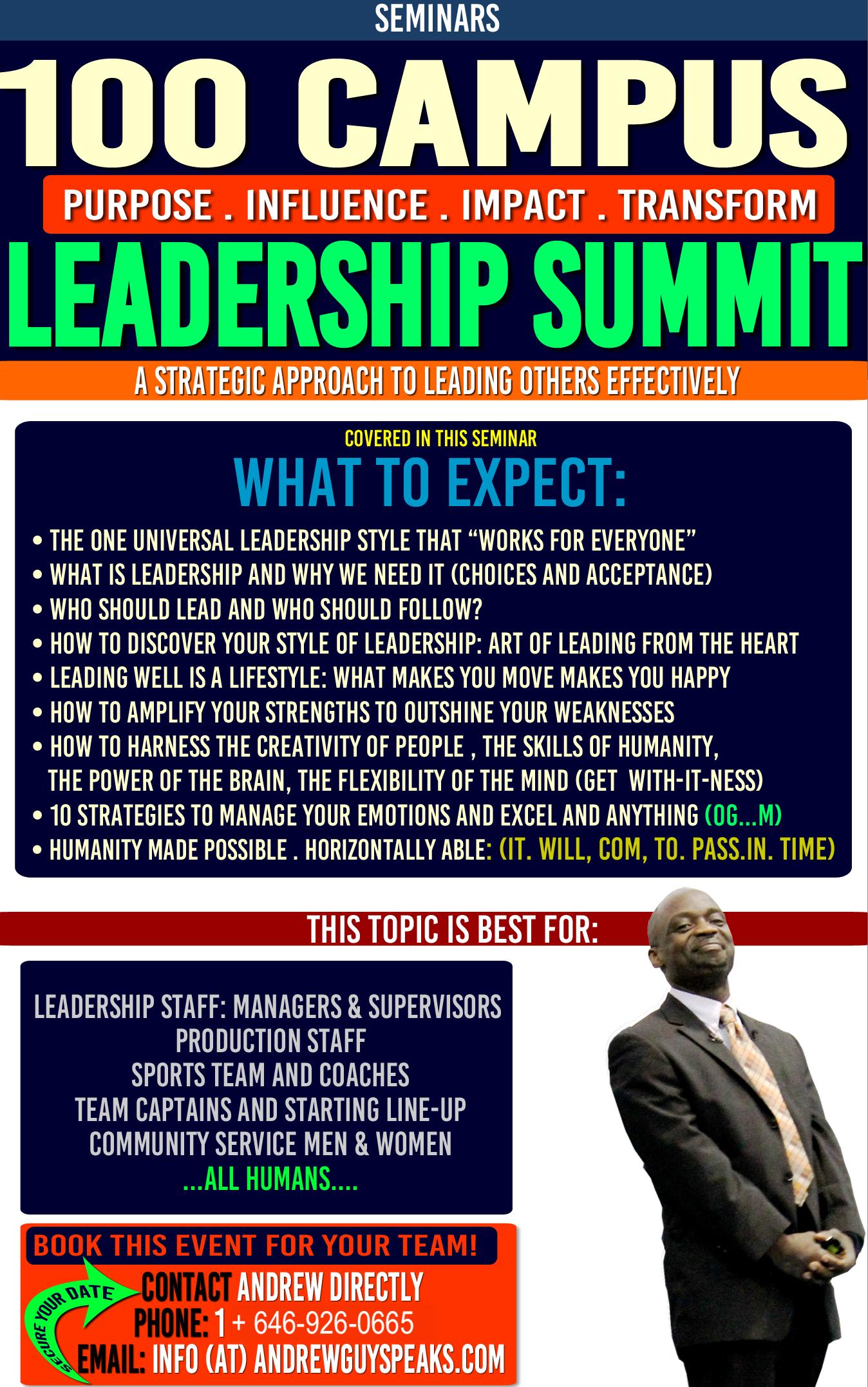 COLLEGE LEADERSHIP, LEADERSHIP SUMMIT,speaker, andrewguy, conference speaker