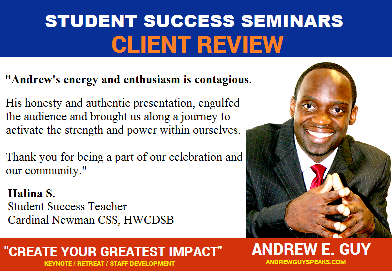 testimonial and feedback, educational speaker, andrewguy, conference speaker
